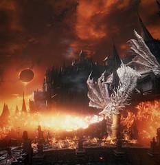 Dark Souls III (ConnecteD\_) Tags: dark souls iii dragon fire total eclipse screenshot panoramic