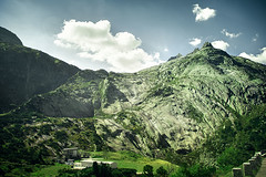 On the way to the Bridge GOMS, Switzerland (oksana_korda) Tags: landscape switzerland mountains nature beautifulplace sunnyweather
