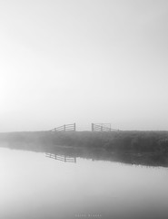 Veiled (Sarah_Brooks) Tags: minimal gates somerset somersetlevels river fog foggy mist autumn