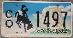 WYOMING ---COUNTY OWNED VEHICLE PLATE (woody1778a) Tags: usa american licenseplate numberplate registrationplate mycollection myhobby state unitedstates wyoming 2000s county
