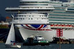 Hythe Ferry Passes Ventura (Hythe Eye) Tags: hampshire southamptonwater ventura cruiseship hythe