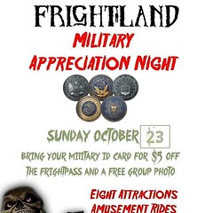 It's military appreciation night at #Frightland ! $5 off your FrightPass with your service ID! #Delaware #Horror #HauntedAttraction #HauntedHouse #NetDE #HauntedHouses #Halloween (frightland) Tags: frightland haunted attractions delaware house scariest philadelphia maryland new jersey pennsylvania horror