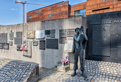 Monument to the Fallen Shipyard Workers _6670 (hkoons) Tags: sea sculpture art history monument statue stone bronze port river boats workers ship waterfront cross image crane gates ships country union nation crosses craft poland polish balticsea baltic cranes warehouse replica communism solidarity historical strike poles lesson remembrance shipyard riots drydock ways comrades protester casting gdansk danzig channel memento protesters easterneurope warehouses struggle victims sacrifice anchors yesteryear likeness gdańsk artform lechwalesa workersunion monumenttothefallenshipyardworkers solidaritymovement gdanskharbor motłlwariver motłlwa