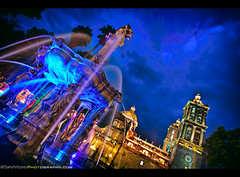 Puebla, Mexico: A City Feasting in Mole Poblano and Mosquitoes! (Sam Antonio Photography) Tags: old longexposure travel food house mountain art heritage tourism church nature fountain night america silver landscape mexico religious evening countryside town spain ancient ruins view pyramid cathedral symbol aztec indian magic country religion pueblo culture bluesky landmark historic mexican destination catholicchurch bluehour mole shape tilt puebla height precolumbian zocalo cincodemayo morelos foodie magico conquistadors travelphotography mexicovacation pueblamexico traveldestinations molepoblano mexicotravel mexicophotography samantoniophotography mexicophotolocation