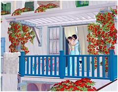 Love in Santorini (Natt Cavalcante) Tags: blue cute couple santorini greece grecia sims thesims2 ts2 natcavalcante couplesims