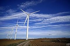 Bardenas Reales, Navarra. Octubre_2014_5 (MSB.Photography) Tags: sky españa clouds landscape spain sony paisaje cielo nubes hdr windturbine windfarms navarra bardenas reales parqueeolico aerogenerador nex7