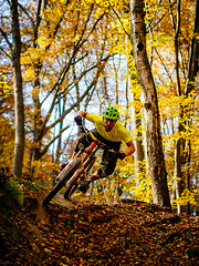 Fall riding (45/52) (andrzejsykut) Tags: fall woods trail riding mtb