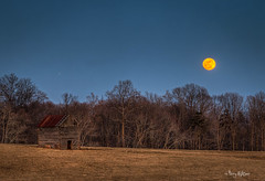 On The 8th Day God Made A Farmer In Bedford County Va Jupiter and Full Moon Rise (Terry Aldhizer) Tags: county old moon snow cold barn bedford virginia log farm full terry jupiter february hundreds aldhizer terryaldhizer terryaldhizercom