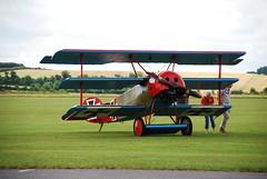 Fokker DR.1 (Ayronautica) Tags: aviation july airshow duxford 2009 iwm triplane flyinglegends fokkerdr1 ayronautica