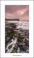 Bungan Beach (John_Armytage) Tags: panorama seascape beach clouds sunrise flow pano sony australia panoramic nsw verticalpanorama northernbeaches bungan slowwater bunganbeach canontse24mmf35lii johnarmytage sonya7r