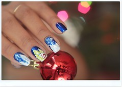 (siça ramos) Tags: christmas blue love natal pretty nail nailart inspiração unhadecorada girlmenina unhasdasemana unhasnailart