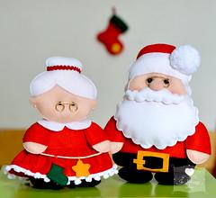 Mamãe Noel e Papai Noel (Jo Matarazzo Ateliê) Tags: natal la mani felt feltro papainoel decoração nelle magia natalfeltro decoraçãonatal papainoelfeltro