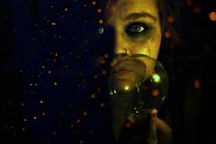 Light Bulb 2 (Alyssa_Morton) Tags: light orange cute girl face yellow lightbulb female photoshop lights eyes hand sad fingers overlay lips teen teenager depressed layers cry