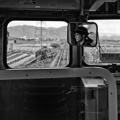 La conductrice (www.marcolivierfilhol.com) Tags: train yahoo line niigata prefecture sen  conductrice
