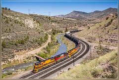 UTAH 5005, Kyune (UT) 3.6.2014 (VTZK) Tags: price train river utah unitedstates bend railway zug oil wyoming curve genesee trein olie courbe bocht kyune