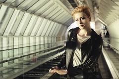 Michela H. (vince_enzo) Tags: urban sexy scale fashion canon eos reflex focus moda sguardo trendy techno mm blondie 50 theron fuoco eso vetro pella mobili bionda charlize modella giacca 600d