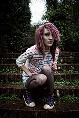 Decption (doyoubleedlikeme) Tags: purplehair girlswithtattoos altmodel alternativemodel alternativeportraits girlsinnylons girlswithcolouredhair