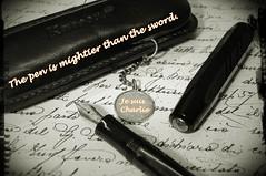 The pen is mightier than the sword - Je suis Charlie (pix-4-2-day) Tags: je suis charlie jesuischarlie solidarity terror pen sword quote mightier pix42day paris hebdo ich bin i am solidaritè