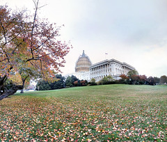 Washington - 13-11-2014 - 17h42 (Panoramas) Tags: park autumn trees sky panorama usa grass automne garden dc washington hill perspective jardin ciel arbres capitol parc hdr feuilles ptassembler herbe leeves etatsunis damrique mutiblend