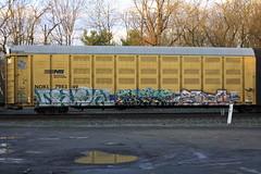 Druski, Dfase?, Gipsy (BombTrains) Tags: road railroad art train bench graffiti paint ns tag graf norfolk rail astro spray southern soviet graff awal freight gipsy autorack fr8 2011 wreks benching neks afids dfase nokl druski 798349
