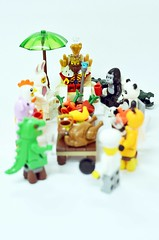 The King and Animal Fest (riderxdesign) Tags: guy bunny chicken animals turkey piggy panda lego lizard bee suit malaysia minifigs fest gorila minifigure afol legography afob toygraphy