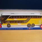 Siku 1:55 Setra Double Decker Bus - (Doppelstock Reisebus - Swiss Post)