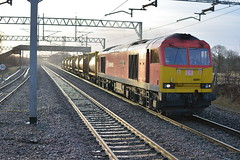 60091 6F60 Arpley Yard - Runcorn passes Acton Bridge 20.02.2015 (pokeyphoto) Tags: tug class60 actonbridge 60091 dbschenker