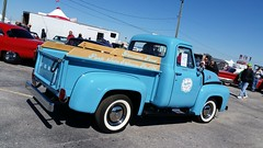 1955 Ford F-100 Pickup Truck (Michel Curi) Tags: auto park winter classic cars festival vintage auction voiture swap carros antiques collectables meet carshow coches winterfest swapmeet automvil 2015 zephyrhills carcorral autofest collectorcars carlisleevents lovefl festvalpark