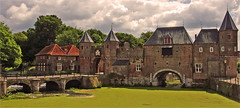 Medieval Koppelpoort in the Dutch city of Amersfoort (Foto Martien) Tags: city holland history netherlands dutch architecture town gate fort sony nederland medieval historical 1425 picturesque fortress geotag middleages oldcity stad architectuur amersfoort poort citywall niederlande a77 vesting historisch geotagging citygate stadspoort koppelpoort middeleeuwen 1450 middeleeuws stadsmuur 1380 verdediging keistad defensivewall oudestad schilderachtig kleinespui verdedigingswerk portedeville portacittadina puertadelaciudad martienuiterweerd carlzeisssony1680 provinceofutrecht martienarnhem martienholland fotomartien sonyslta77v sonyalpha77 geotaggedwithgps procincieutrecht municipalityandcity gemeenteenstad stadtdoor landenwatepoort built14thand15thcenturies gebouwd14een15eeeuw landandwatergates