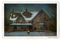 Gingerbread and Ice (John Ronson Photography) Tags: winter snow ice gingerbread tex stonehouse jerryjones iciccles