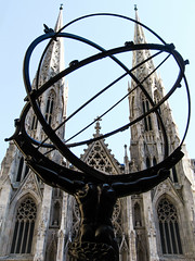 Battle of the Gods... (THE ARCH1) Tags: nyc newyorkcity statue architecture cathedral rockefellercenter atlas fifthavenue newyorkny saintpatrickscathedral leelawrie jamesrenwickjr renepaulchambellan