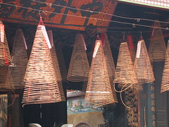 Incense Burning from Above in Thien Hau Temple