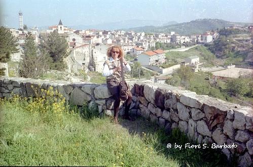 Gessopalena (CH), 1995, Il paese distrutto dai tedeschi nel 1943.