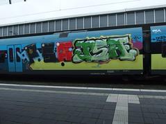 PSA . PSA (mkorsakov) Tags: park city train graffiti zug bahnhof colored hbf bunt münster psa innenstadt tripa westfalenbahn rb66 aimkreis poick