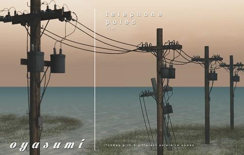 oyasumi / telephone poles @ kustom9