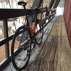 Skinny tires on snow, it seemed like a good idea at the time. #weavercycleworks #custombicycles #rideinthesnow