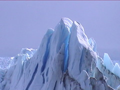 Clear Blue Ice of Perito Merino Glacier