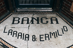 Banca Italian (CTPHOTOG) Tags: door sign vintage tile italian antique masonry bank doorway step entryway signage financial 20s