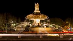 La Rotonde (MarKus Fotos) Tags: lightpainting nightscape paca fontaine nuit nocturne aix