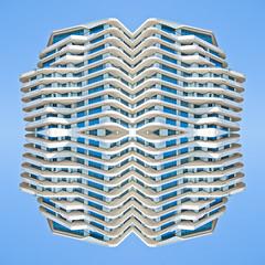 16 05 SYM Marco Polo [ andre gansebohm] (Andre Gansebohm) Tags: blue white lines architecture experimental pattern symmetry minimal symmetric symmetrical minimalistic lensblr