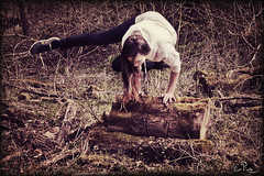 crow variation in the forest (Heldin_im_Chaos) Tags: selfportrait girl yoga forest grow selbstportrait