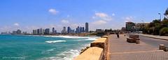 Tel Aviv beaches, Israel (jackfre2) Tags: israel telaviv beaches city sandbeaches bathers israelis mediterranean parasols