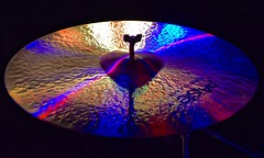 Formula 602 (tim.perdue) Tags: formula 602 paiste cymbal percussion lights reflection multicolored texture