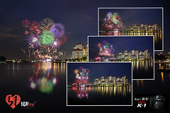 NDP 2016 Preview #2 Fireworks (Ken Goh thanks for 2 Million views) Tags: ndp final rehearsal 2016 fireworks colorful lighting evening blue sky reflection kallang river water smooth nopeople pentax k1 full frame sigma 1020