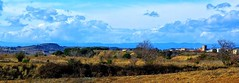 Paysage vers l'tang de Vendres (France) (Grard Farenc (slowly back) !) Tags: tang vendres village landscape extrieur ciel clouds nuages panorama collines arbres trees france europe 34 hrault occitanie gnneniyisi thebestofday