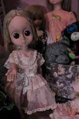 Hes my thing (Vuffy VonHoof) Tags: eye girl up set vintage toy toys kid big eyes 60s doll dolls child sad little no name homeless crying retro h keane 70s eyed miss