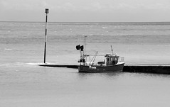 Fishing Boat (Crisp-13) Tags: white black monochrome boat kent fishing broadstairs