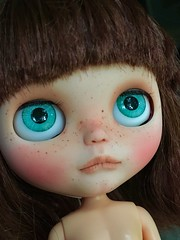 Duffy - WIP (Chassy Cat) Tags: blythe chassycat custom doll freckles takara ooak wip theartofwarfaery warfaery eye chips eyechips