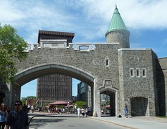 Quebec City, Quebec, Canada, Holland America Cruise, Downtown's St. John Gate (Mary Warren (7.1+ Million Views)) Tags: canada building stone architecture gate arch quebec quebeccity hollandamericacruise