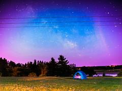 camping under the milky way ((robcee)) Tags: milkyway newbrunswick 2016 canada moncton petitcodiac river sky space tent voigtlander exif:isospeed=1600 camera:model=em1 camera:make=olympusimagingcorp exif:model=em1 exif:make=olympusimagingcorp fireflies glow meteor deltaaquarid